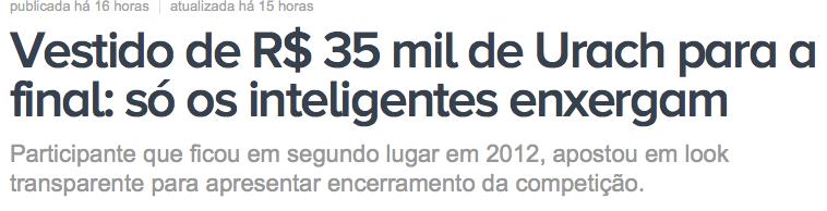 Andressa Urach usa vestido de 35 mil reais