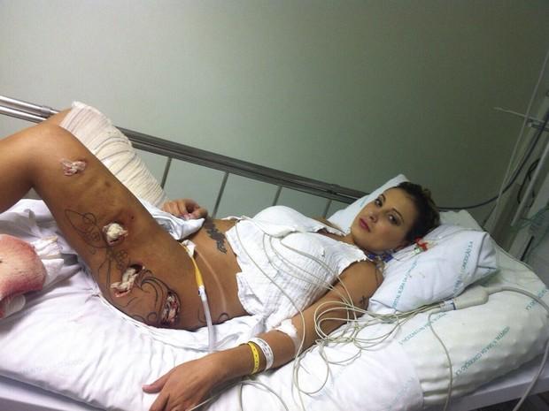 Fotos de Andressa Urach pós-cirurgia
