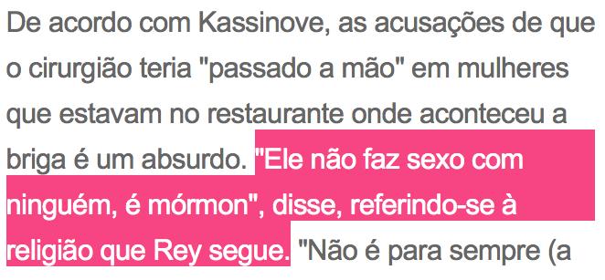 Dr. Rey é Mórmon